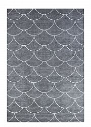 Matto 133 x 190 cm (wilton) - Thema Shell (harmaa)