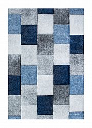 Matto 133 x 190 cm (wilton) - London Mosaik (sininen)