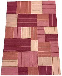 Patchwork - Superior new wool Patchwork (vaaleanpunainen)