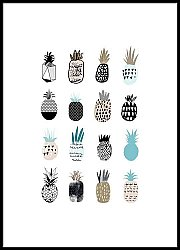 Collection of cute pineapples